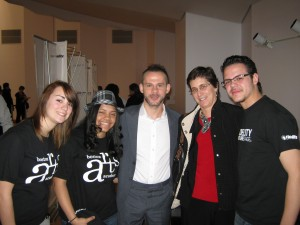 With Dominic Monaghan at the Walt Disney Concert Hall
