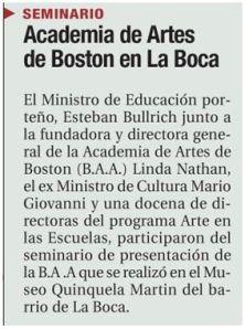 Seminar Notice from Esteban Bullrich