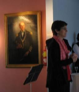 Speaking at the Quinquela Marin museum