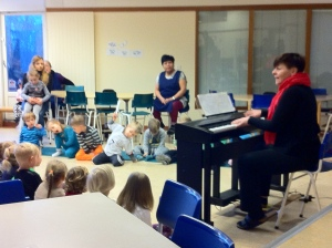 Music begins the day in preschool
