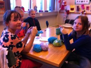 Knitting class