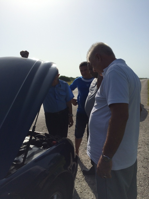 Cars are not always a reliable form of transportation in Cuba