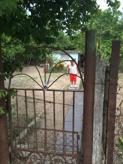 Outside the house in Cienfuegos
