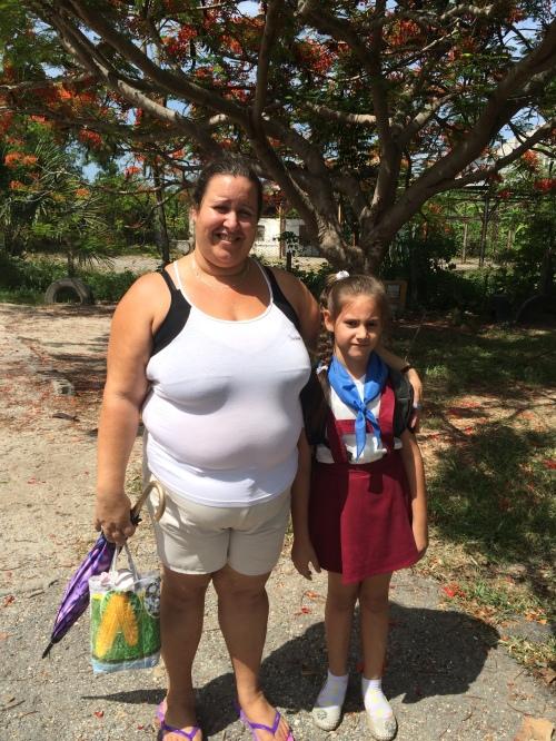 Margarita's cousin Rebecca and her daughter Laura